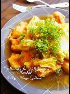 [簡単!胸肉が柔らかい♪]ご飯がススム!鶏胸肉と白菜のおろし