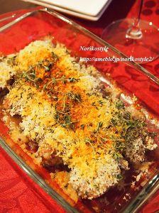 ワインマリネチキンの香草パン粉焼き