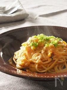 キムチとツナのクリームスパゲティ