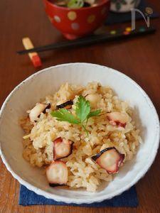 生姜が香るタコの炊き込みご飯