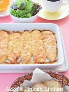 鶏のささみのチーズピカタ♡オーブンでカリッとアツアツ!