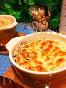 栄養満点♪ひじきの煮物でお豆腐のヘルシー和風ドリア♡