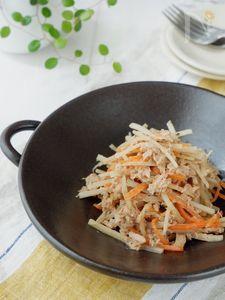 ノンオイル*ゴボウと水煮ツナのサラダ