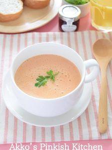 旬のおいしさ♡トマトの豆乳ポタージュ 冷製でも温製でもOK!
