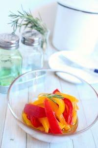 冷凍パプリカのすし酢でできる簡単マリネ