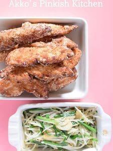 鶏のささみの麺つゆわさびマヨネーズ揚げ