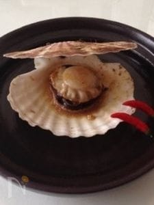 電子レンジにおまかせ♪♪殻付き帆立貝のバター醤油