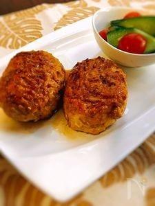 節約☆もやし入り鶏ひき肉ハンバーグ