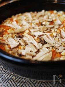 松茸の土鍋ごはん