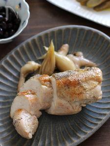 簡単豪華♪鶏むね肉の和風コンフィ。