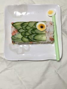 鯉のぼりの押し寿司