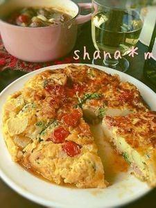お野菜た~ぷり♪Wチーズのトルティージャ♪