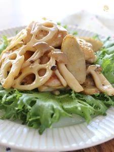 鶏肉と秋野菜の甘辛炒め