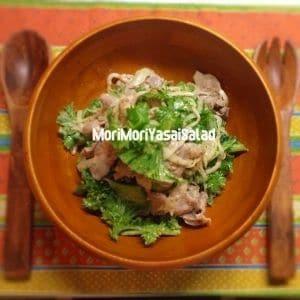 トロリ茹で豚とたっぷり野菜の温サラダ