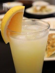 梅酒のグレープフルーツ割り