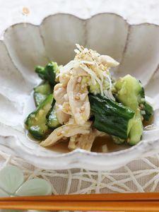 鶏胸肉ときゅうりのたたきの中華風和え物