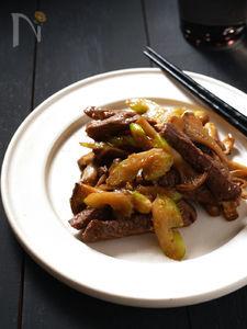 牛肉とセロリの味噌炒め