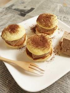 冷やしても柔らかパンケーキでチョコ生サンド