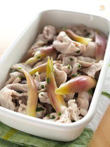 豚と茗荷の白だし浸し 茹でて浸すだけでこんなに美味しい!