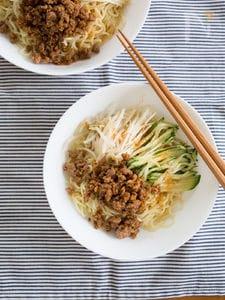 ひき肉とシャキシャキ野菜の冷やし中華