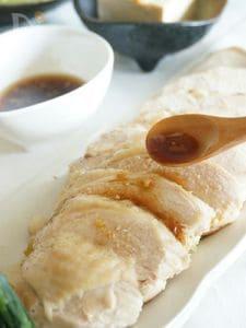 長ねぎと生姜の蒸し鶏