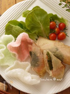 キャベツとチーズの簡単春巻き☆