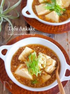 麺つゆでラクラク♡『絹豆腐の生姜そぼろあんかけ』