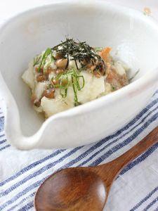 長芋と納豆の簡単おつまみ