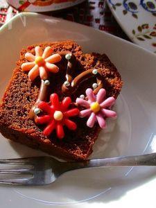 ヌテラ&チョコフラワーで楽しむ!グルテンフリーココアケーキ