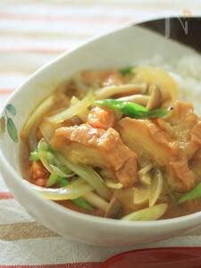 カレーふどん(カレー麩丼)