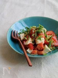 トマトとチーズの生姜ナムル。