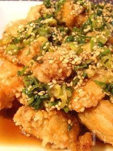 あっさり中華風ごまダレで☆鶏むね肉の唐揚げ