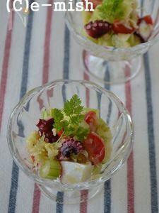 【乳酸発酵キャベツ】タコとトマトのレモンマリネ