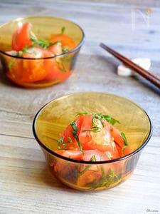 簡単もう一品☆トマトと大葉のさっぱり和え!