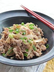 豚こま肉の梅肉さっぱり炒め