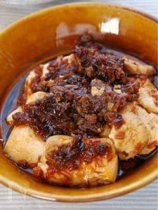揚げねぎと豆腐のピリ辛煮