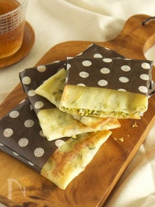 【包丁・はかり・火不要】豆苗とじゃこチーズのぺたんこ焼き