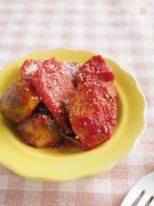 芽キャベツとランチョンミートのトマトジュース煮