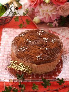巻かずに簡単*ブッシュドノエル*クリスマスケーキ