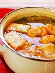 えびとお餅のコチュジャン鍋☆