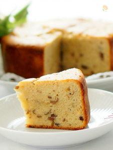 ストウブで粒あんとホワイトチョコのパウンドケーキ