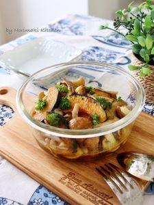 作り置き副菜*きのこと南瓜のマリネ