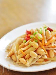 根菜と大豆のキンピラ