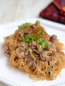 牛肉と春雨のピリ辛炒め【作りおき】