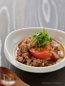 たっぷりトマトの牛肉炒め煮