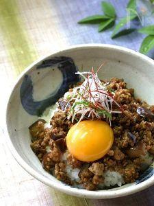 ピリ辛茄子の豚味噌