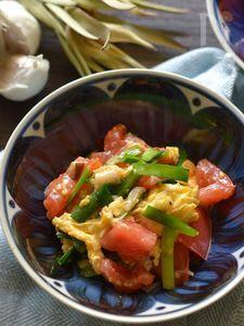 トマトと卵の中華炒め