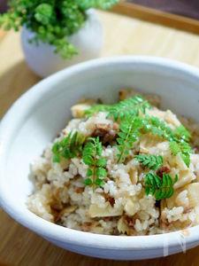 簡単で美味しい筍と牛肉のおこわ