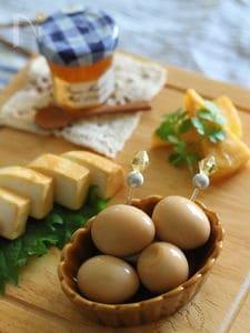 うずら卵のにんにくみそ漬け