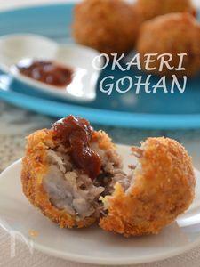 里芋とひき肉のコロッケ